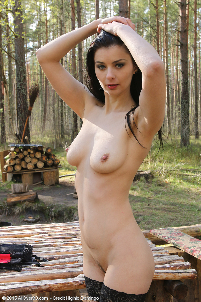 Outdoor Babe In A Corset - Hotsexymaturebabescom-3946